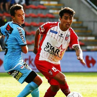 Omar Govea, Once ideal, Bélgica, gol, tiro libre, Royal Excel Mouscron