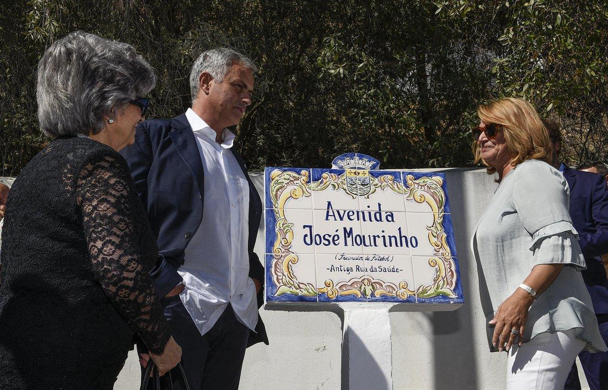 José Mourinho, inaugura, calle, con su nombre, avenida, Portugal, Setúbal,