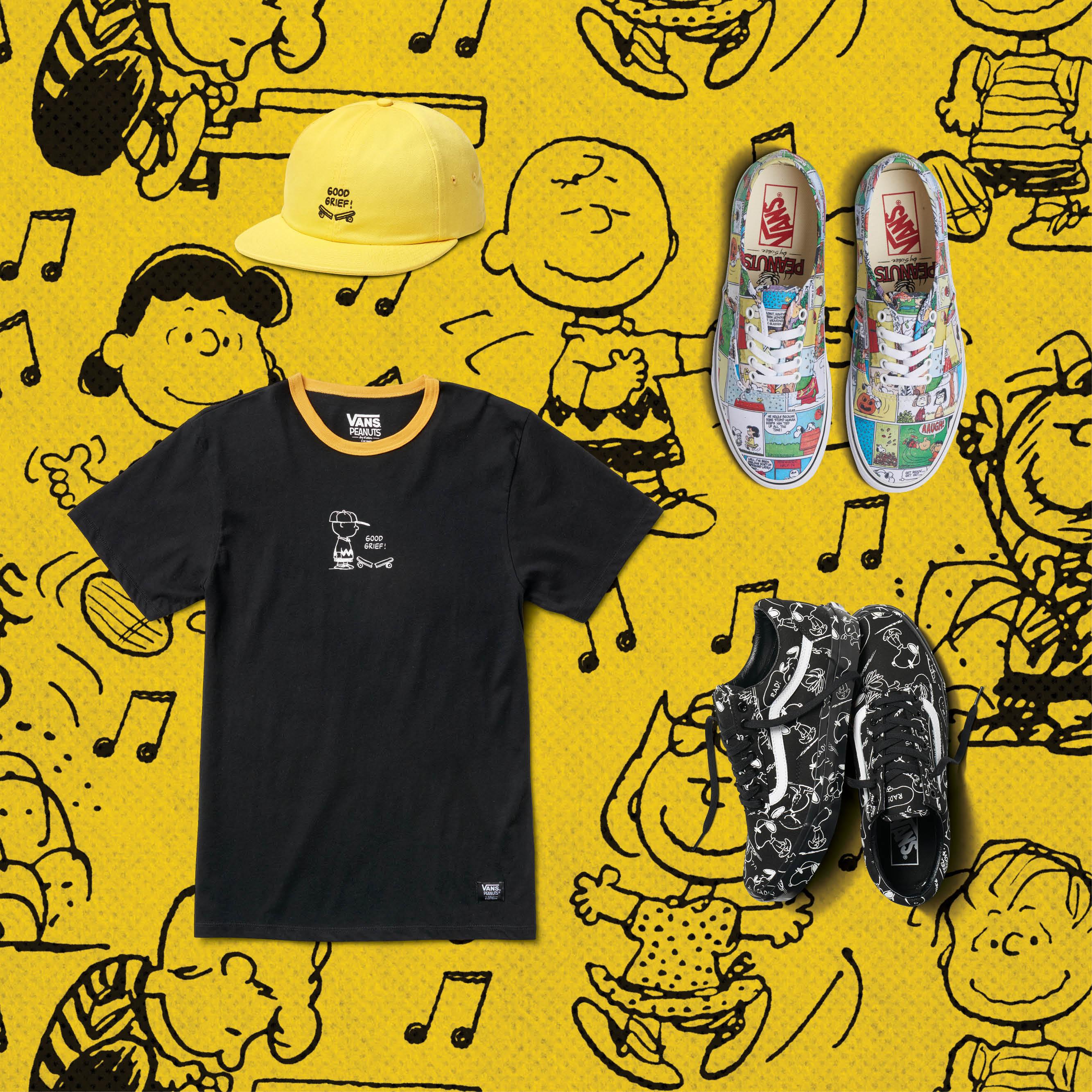 Snoopy Charlie Brown Vans tenis ropa playeras