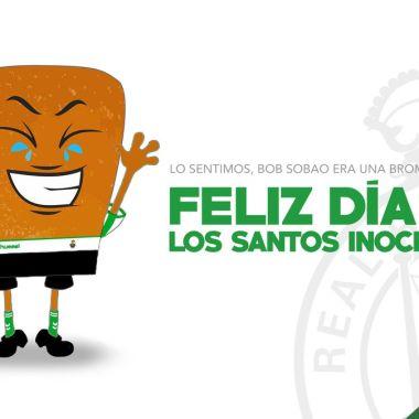 Racing de Santander, futbol, España, mejor broma, día inocentes, bob esponja, mascota, confunde, medios, publican, real
