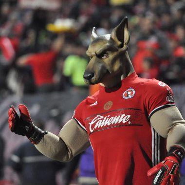 Mascotas de Xolos y Monterrey se retan con baile [VIDEO]