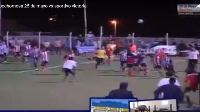Batalla Campal Futbol Argentino Sportivo Victoria 25 Mayo