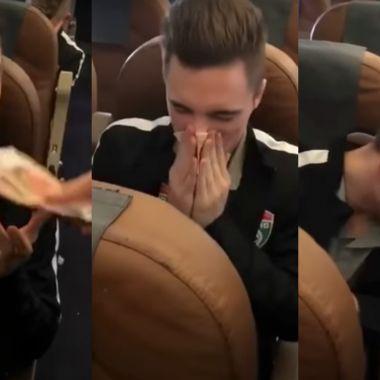 Futbolista ruso limpia nariz billetes mocos