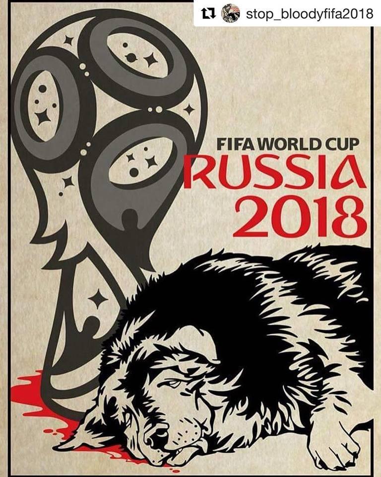 Perros Matanza Rusia Mundial Facebook Poster