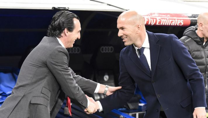 Real Madrid PSG Zidane Emery Champions League