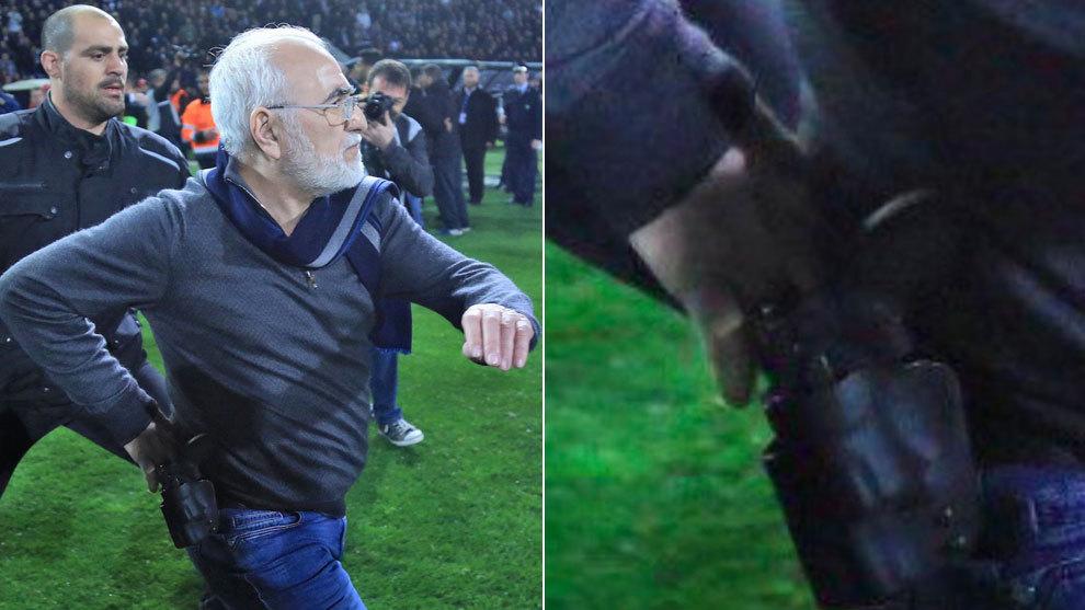 PAOK de Grecia, Ingresa al Campo, Gol anulado, Ivan Savvidis, Presidente, Pistola, Amenaza, Árbitro, Futbol
