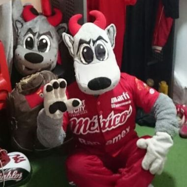 Diablos Rojos México Mascota Femenina LMB Beisbol Rocco Roccy.jpg