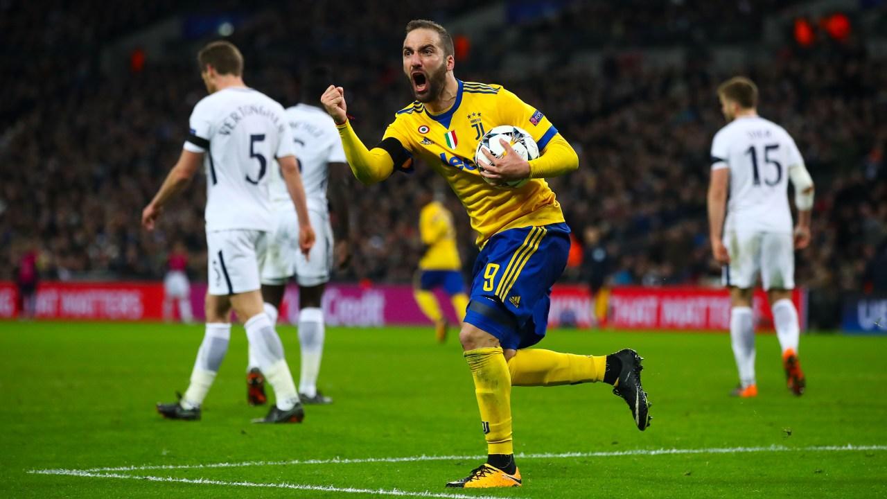 Gonzalo Higuaín Gol Juventus Tottenham Champions League