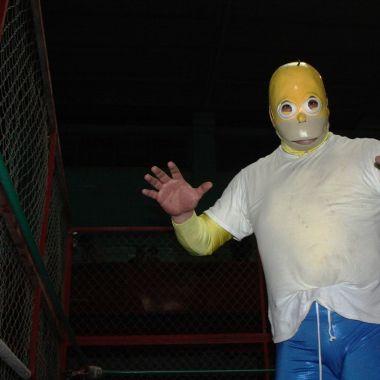Homero Simpson sueña con llegar al Consejo Mundial de Lucha Libre