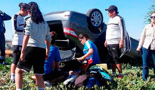 Liga MX Femenil, Paseo de la Reforma, Querétaro Femenil, Sufren accidente, Lesiones leves, Automovilístico, Futbolistas, Dirigían, entrenamiento