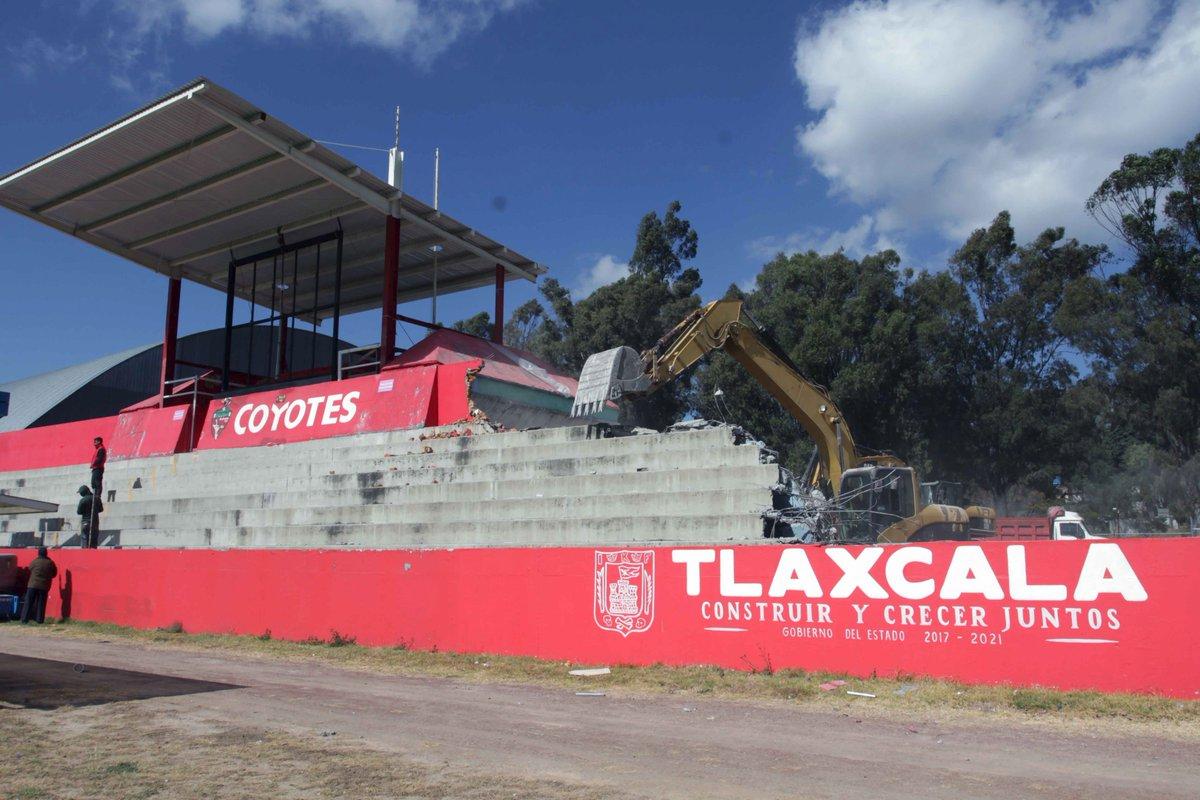 Retrasos en estadio, Estadio Tlahuicole, Perder Franquicia, Segunda División, Ascenso, Tlaxcala, Coyotes, Campeon, Demolicion, Obras
