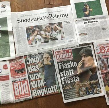 Prensa alemana destroza a su Selección