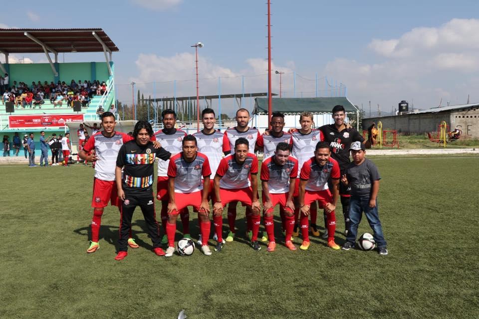 Equipo Exprofesionales Derrotado Futbolistas Laneros Oaxaca Deportivo Aragón