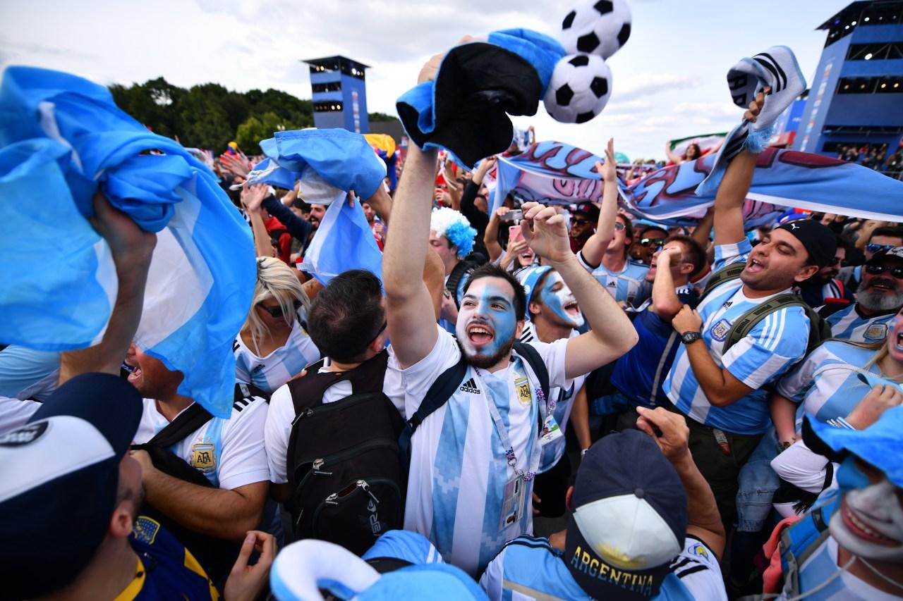 Aficionados Argentina Inauguración Rusia 2018
