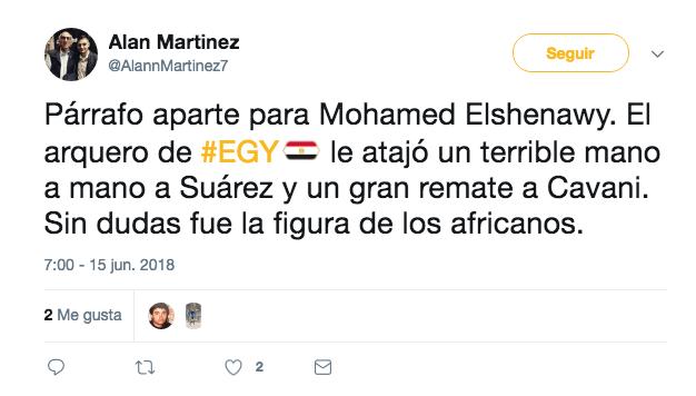 Mohamed Elshenawy, Egipto, Uruguay, Grupo A, Mundial, Rusia 2018