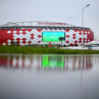 MOSCOW, RUSSIA - JUNE 10: General view of Spartak Stadium ahead of the 2018 FIFA World Cup on June 10, 2018 in Moscow, Russia.