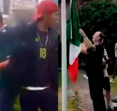 México Alemania Rusia 2018, Mexicanos Queman Bandera Alemania, Queman Bandera Alemana, Mexico Bandera Quemada