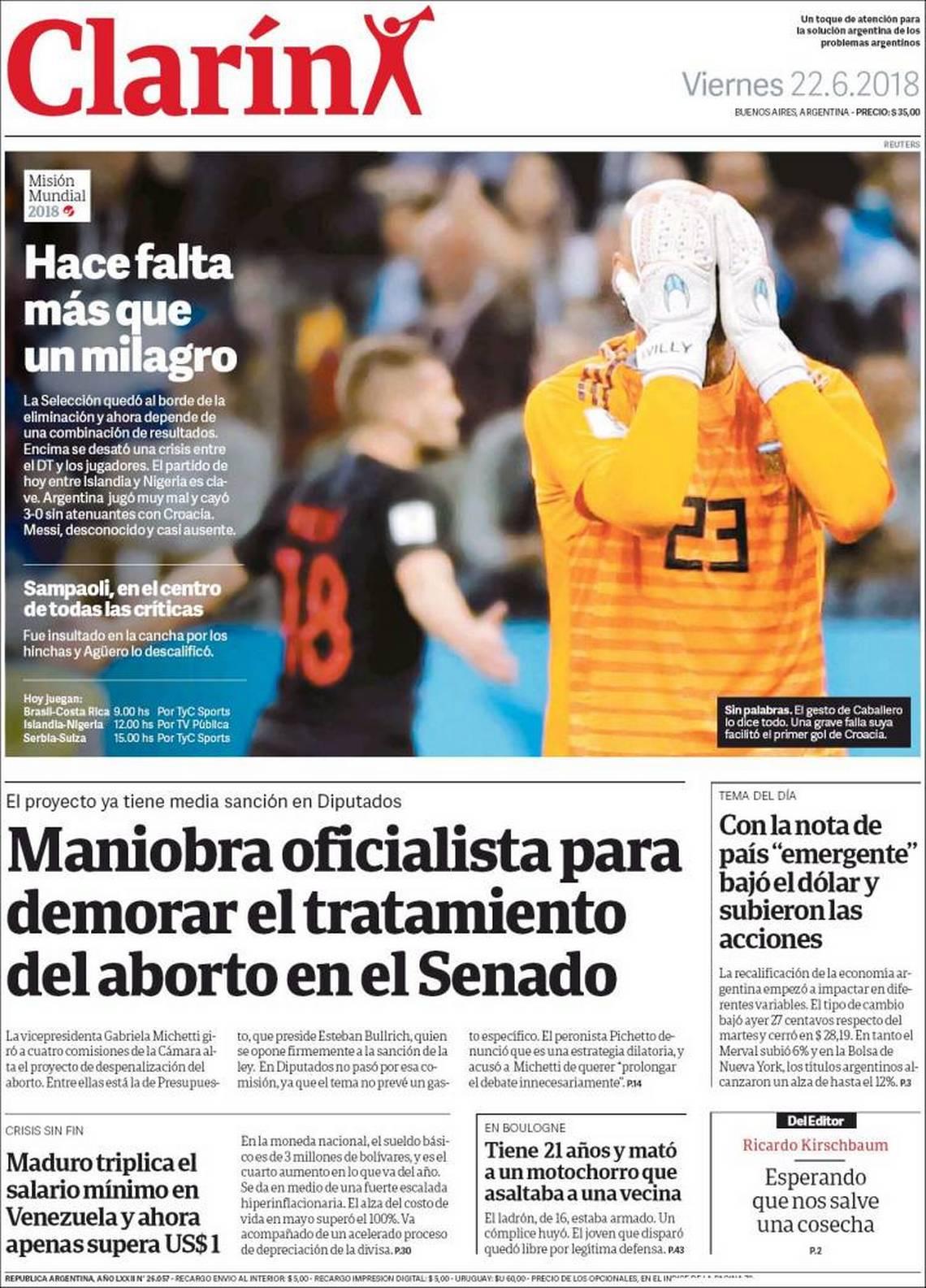prensa argentina rusia 2018