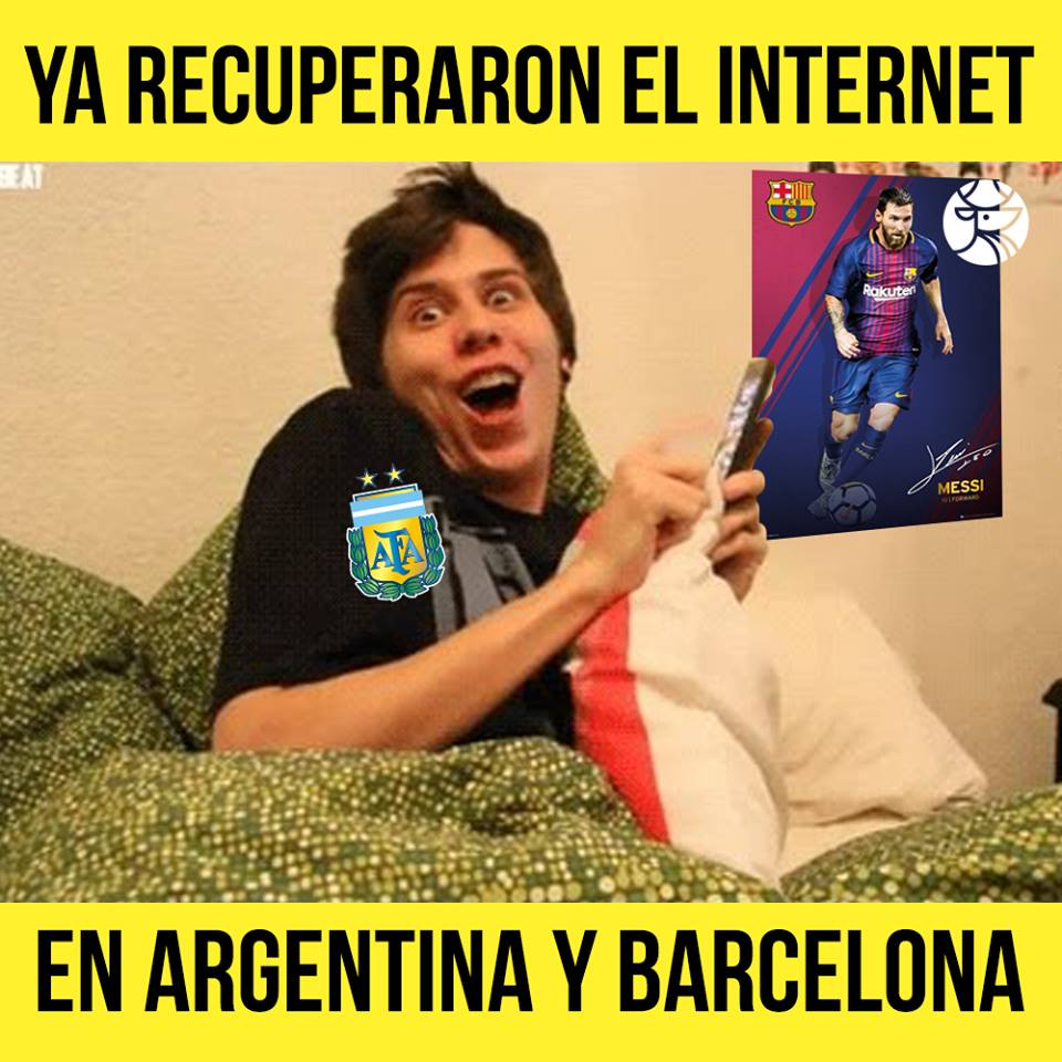 Regreso Internet Barcelona Argentina