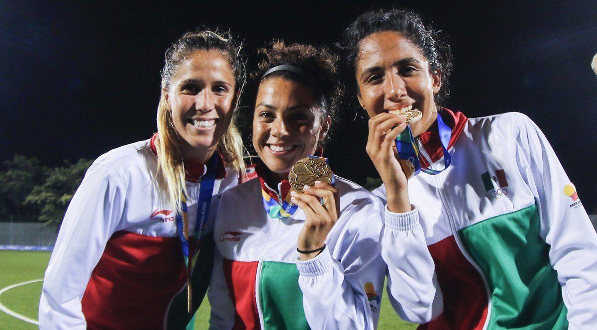 Afición Selección Femenil Medalla Oro México Juegos Centroamericanos 2018