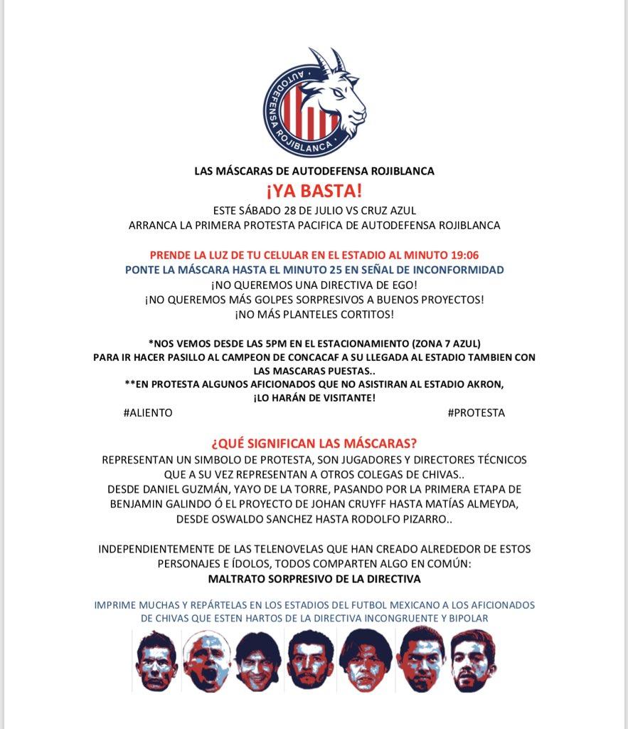 Chivas, Afición, Autodefensa Rojiblanca, Protesta