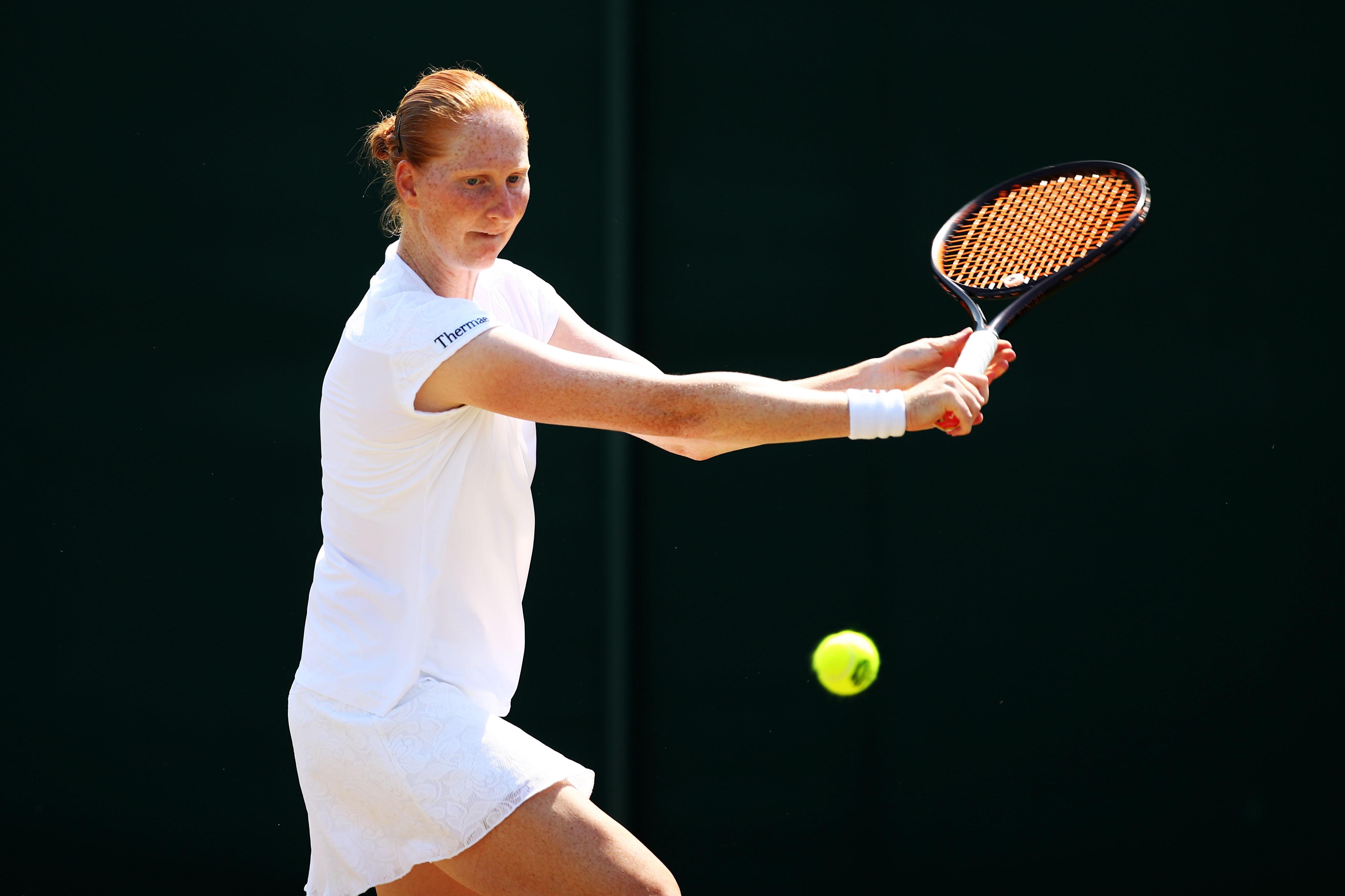 Tenista, Beso, Wimbledon, Alison Van Uytvanck