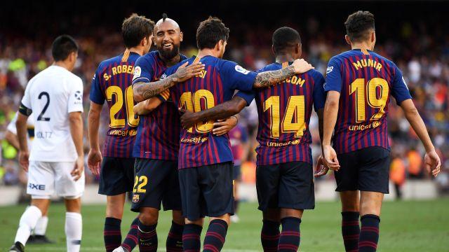 Barcelona Boca Juniors Trofeo Boca Juniors Amistoso Goles