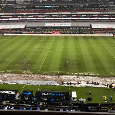 Estadio Azteca Pasto Híbrido Estafa Fifa Pleyers