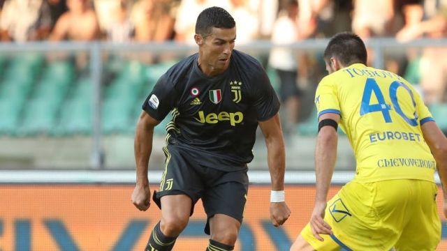 Debut Cristiano Ronaldo Juventus Italia Partido