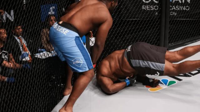 Peleador Rodillazo MMA Video Nocaut Leroy Johnson