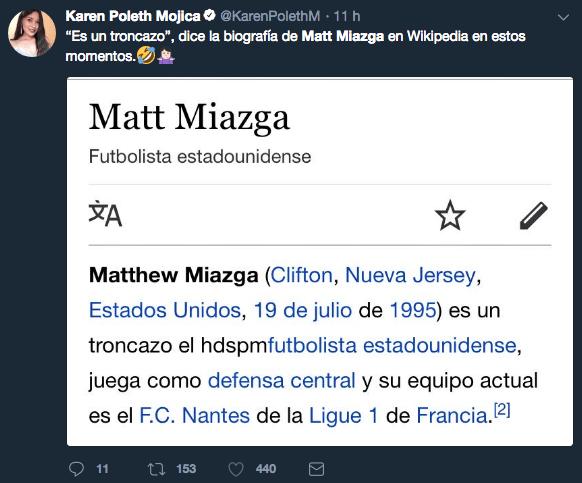 Diego Lainez, Matt Miazga, México, Estados Unidos