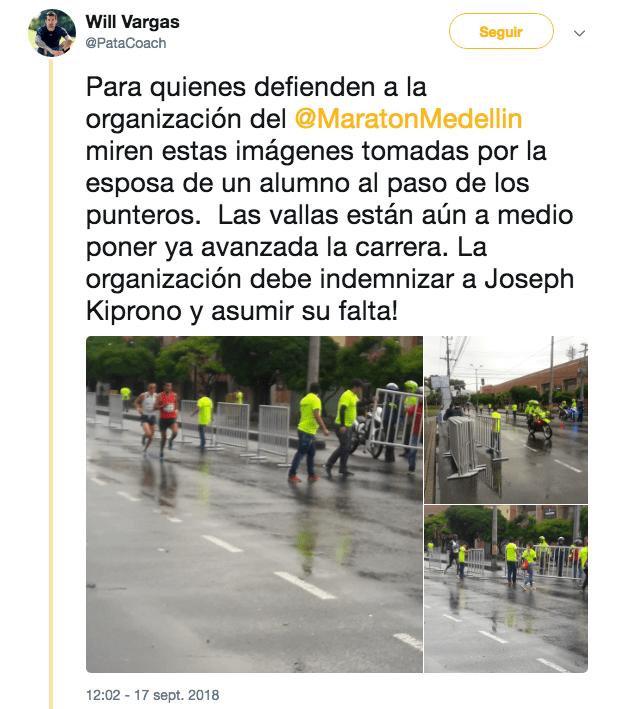 Joseph Kiprono, Medio Maratón Medellín, Atropellado, Muerto
