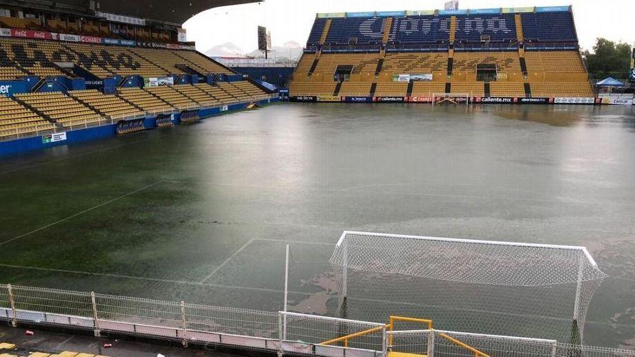 Tormenta Sinaloa Estadio Dorados Inundación Los Pleyers