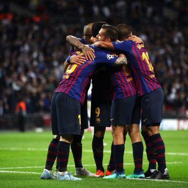 Champions League, Goles, Barcelona, Tottenham Los Pleyers