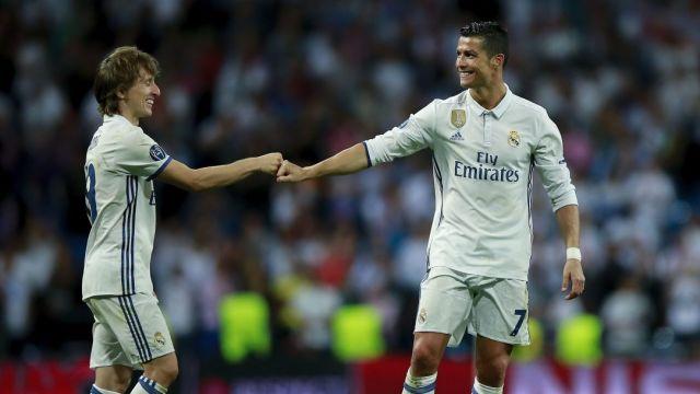 Cristiano Ronaldo, Modric, Nivel, Comparación