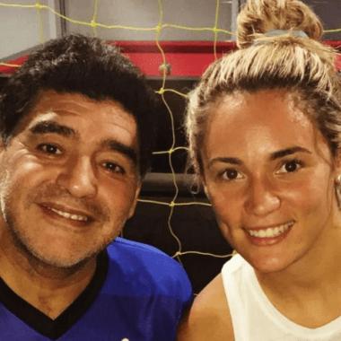¿En realidad la novia de Maradona es futbolista?