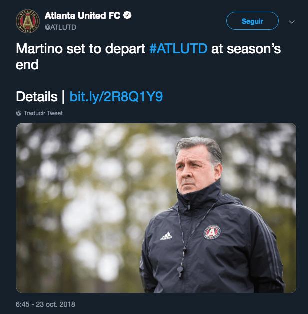 Tata Martino, Selección Mexicana, Atlanta United, Contrato