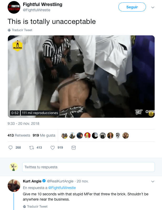 Kurt Angle Busca Venganza Luchador Tabicazo