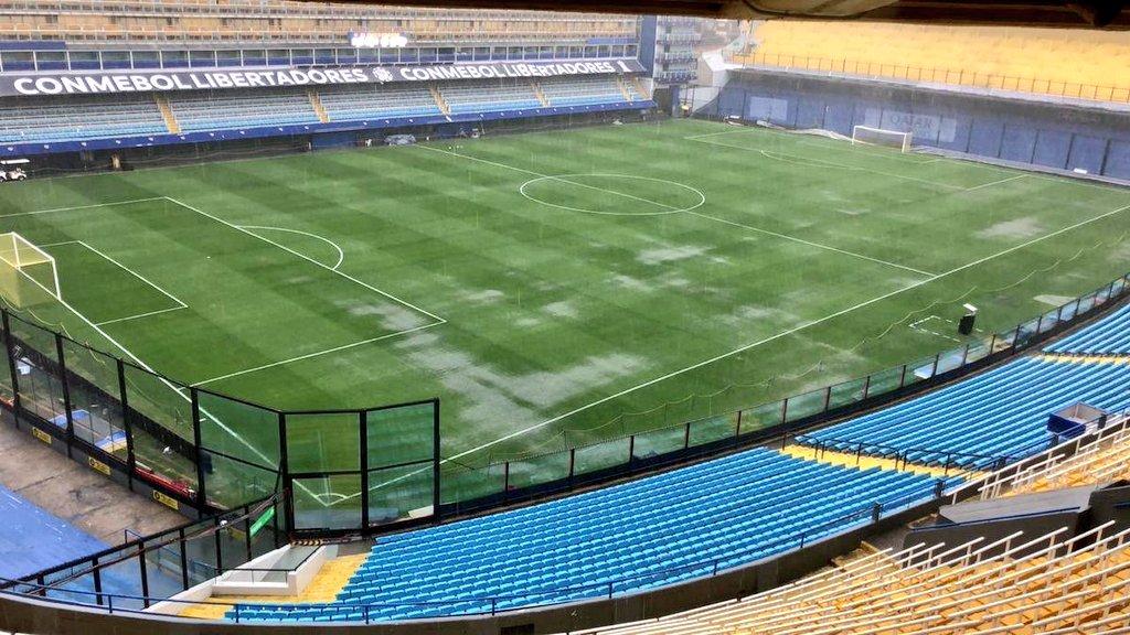 Final Copa Libertadores, Boca Juniors, River Plate, Lluvia Los PleyersFinal Copa Libertadores, Boca Juniors, River Plate, Lluvia Los Pleyers