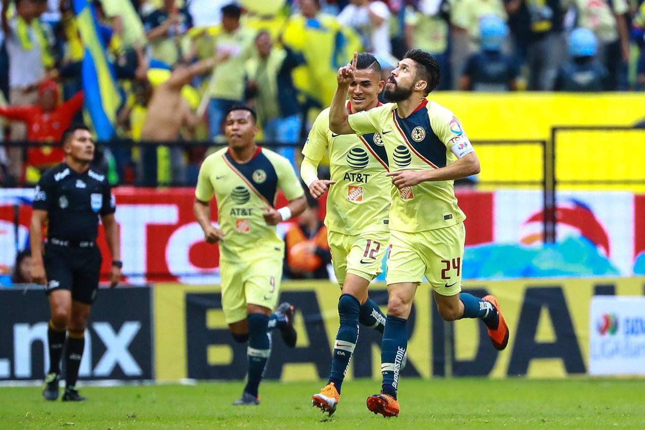 Oribe Peralta América Festejo Los Pleyers