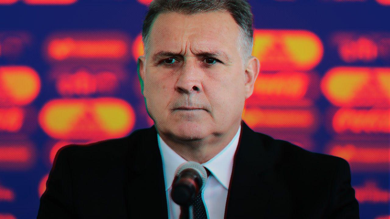 Tata Martino Delanteros Selección Mexicana Falta
