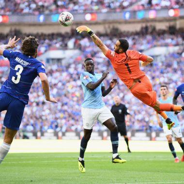 05/08/2018. El portero del Manchester City, Claudio Bravo, luce como posible refuerzo de Monterrey de la Liga MX