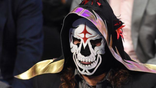 14/01/2020. La Parka Rostro Cara Luchador Los Pleyers, Foto de La Parka con máscara.