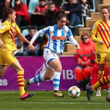 09/02/2020, Barcelona y Real Sociedad Femenil protestan para exigir mejoras al futbol femenil en España