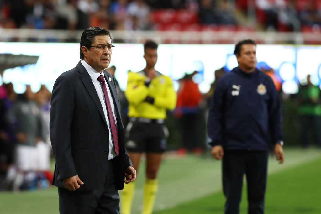 25/01/2020. Chivas Gustavo Alfaro Tena Entrenador Los Pleyers, Tena en el partido Chivas vs Toluca.