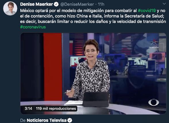 28/02/2020. Coronavirus México Liga MX Los Pleyers. Captura de pantalla a Noticieros Televisa.