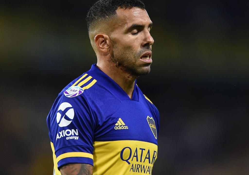 08/02/2020. Cruz Azul Carlos Tévez Refuerzo Rechazo Los Pleyers, Carlos Tévez en un juego reciente con Boca Juniors.