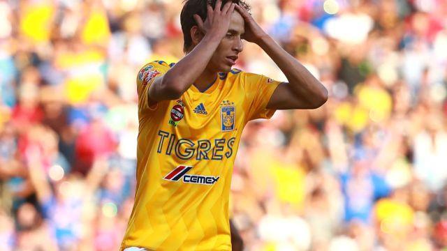29/09/2018. Jürgen Damm Rafael Carioca Tigres Mls Los Pleyers, Jürgen Damm se lamenta una acción con Tigres.