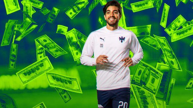 13/02/2020. Rodolfo Pizarro Liga MX Precio Mexicanos Los Pleyers, Rodolfo Pizarro con billetes.