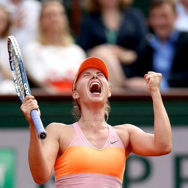 07/06/2014. Sharapova Retiro Tenis Perfil Los Pleyers, Maria Sharapova festeja en el Roland Garros 2014.